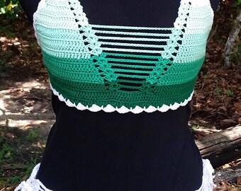Crochet Ninja Green Ombre Bikini