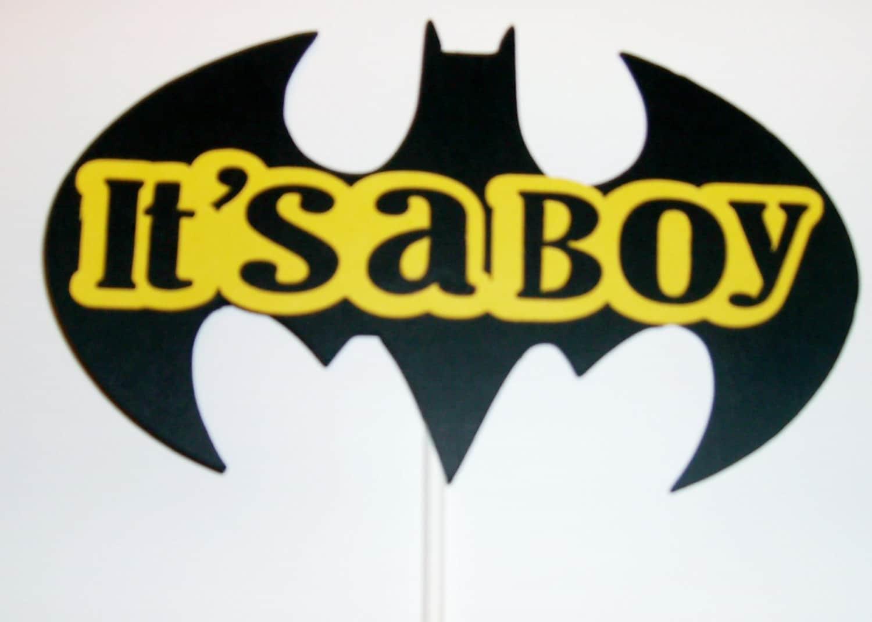 Batman cake topper / It\'s a boy cake topper / Yellow and   Etsy