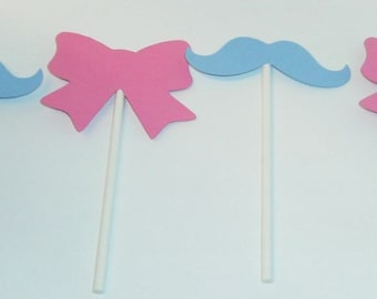 Gender Reveal Cupcake toppers Boy or Girl (221C)