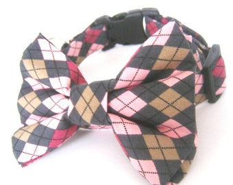 bow tie dog collar ,collar with bow tie collar accessory ,dog collar with bow tie