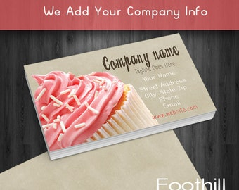 Premade Business Card Design Wedding Cake Bakery Party Etsy