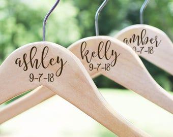 Wedding Hangers, Bridesmaid Hangers, Bridal Dress Hanger, Bridesmaid Wedding Hanger, Wedding Dress Hanger, Bridesmaid Gift