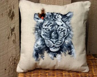Oreiller décoratif tigre, l'un d'un oreiller aimable Tiger peints