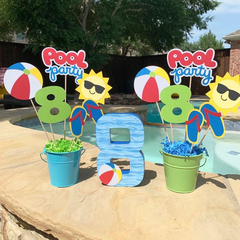 Splish Splash birthday Summer party Pool Party Centerpiece Pool party decorations Pool Party decor Birthday Photo Prop