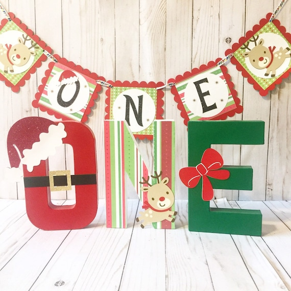 Christmas Party Decorations.Christmas Party Decor Merry Birthday Banner Party Photo Prop Christmas Birthday Highchair Banner Christmas Baby Winter Birthday