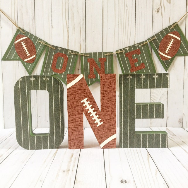 Football Birthday, Birthday Photo Prop, Football party, Block number, Sports party, Super Bowl Party, Age number