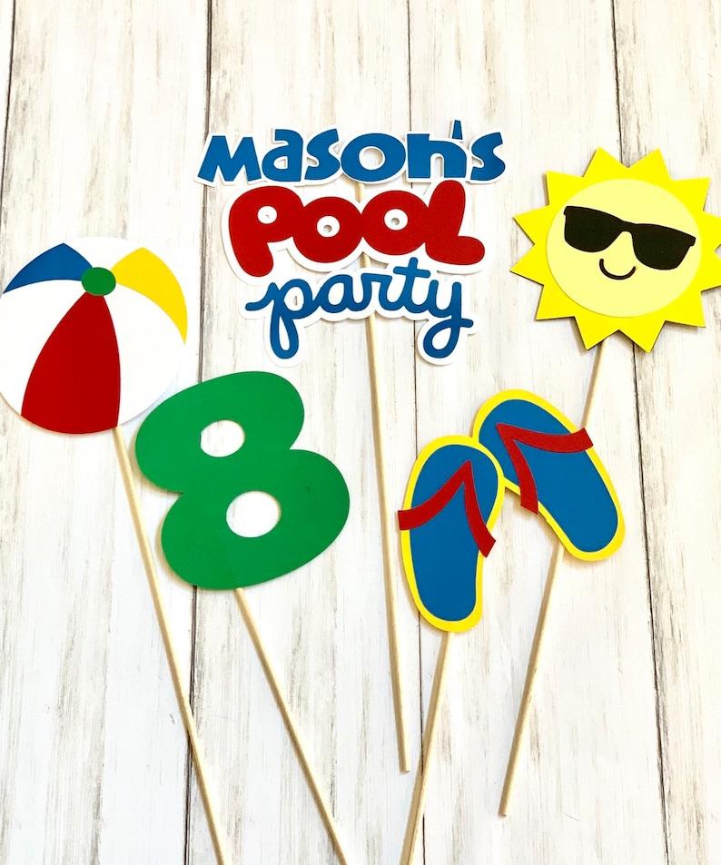 Pool Party decor Birthday Photo Prop Pool party decorations Summer party Splish Splash birthday Pool Party Centerpiece