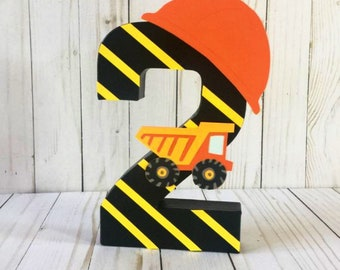 Construction Birthday Party, Dump Truck, Construction Party Theme, Construction Party, construction signs, First birthday decor, Age number