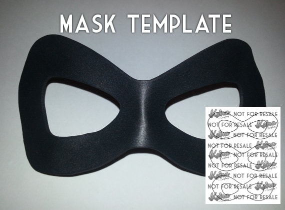 Harley Mask Template Etsy