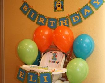 1st Birthday Banner Set