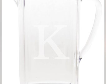 Engraved and Monogrammed Acrylic Pitcher with Cover
