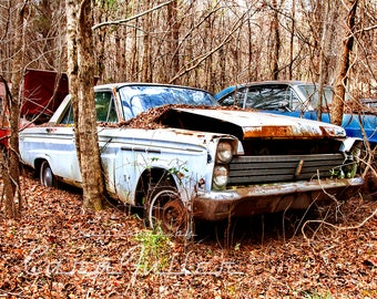 Photograph of a 1965 Mercury Comet in the Woods