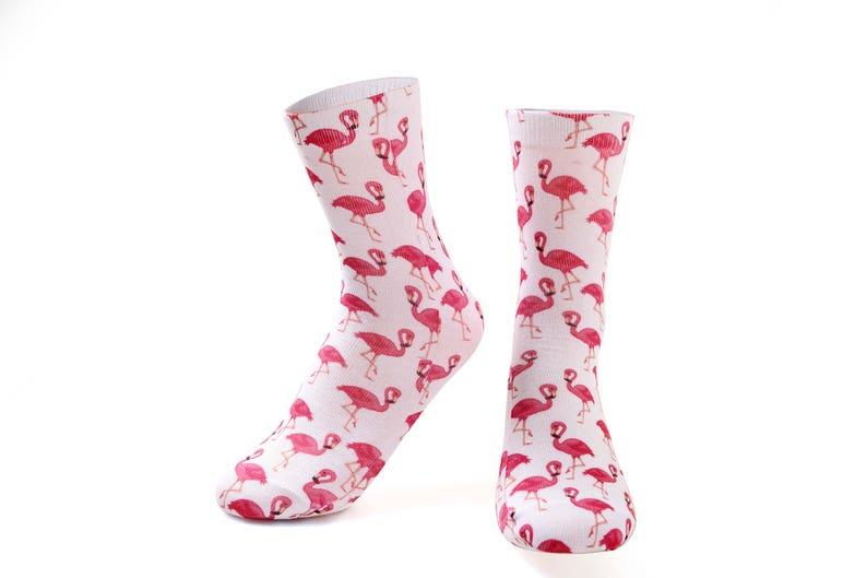 Business Novelty  Socks Flamingo Socks.Blue socks Xmas Stocking Filler.