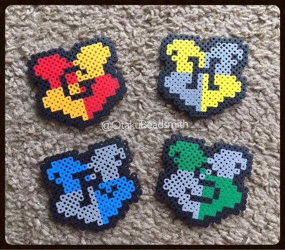 Harry Potter House Perler Bead Magnets Etsy Gorgeous Harry Potter Perler Bead Patterns