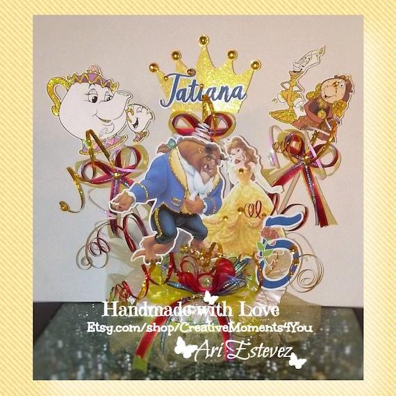 Awe Inspiring Princess Belle Beauty And The Beast Cake Topper Disney Etsy Funny Birthday Cards Online Kookostrdamsfinfo