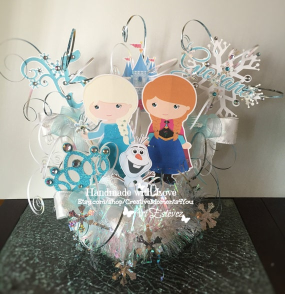 Frozen Cutie Theme Birthday Cake Topper By