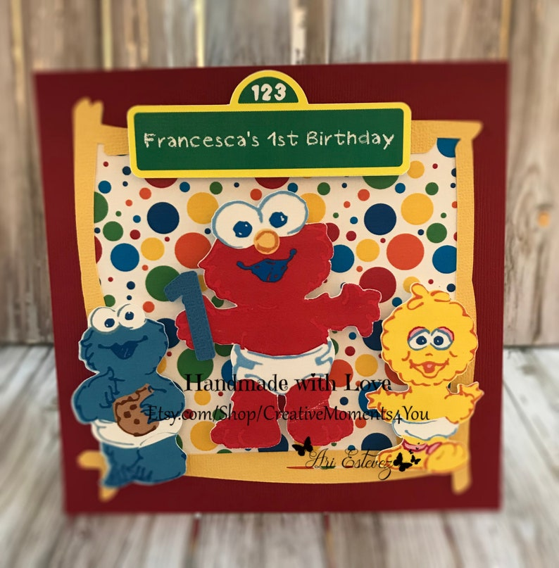 Baby Elmos Birthday Invitations Sesame Street