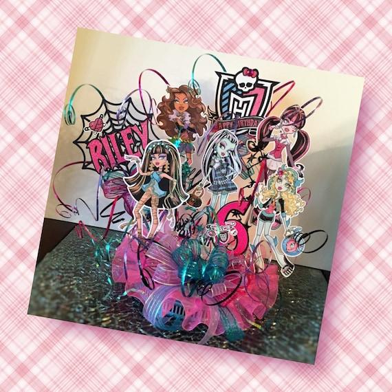 Remarkable Inspired Monster High Ghouls Birthday Cake Topper Etsy Personalised Birthday Cards Beptaeletsinfo