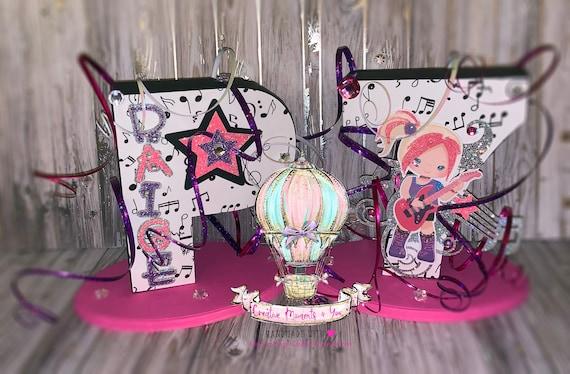 3D Block Letter Rock Star theme