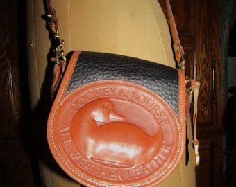 "Dooney & Bourke ~ Duck ~ Logo ~ AWL ~Black ~ Bag ~ Cross Body ~ Mint ~ Awesome ~ Recycled ~ Small Size ~ 6.5"" X 6.5"" X 3"""