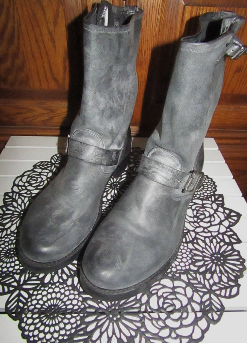 9a6b0d9a78d3bf Frye Boots Engineer Style Grey White Washed