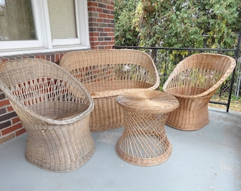 Surprising Wicker Scoop Chair Etsy Uwap Interior Chair Design Uwaporg
