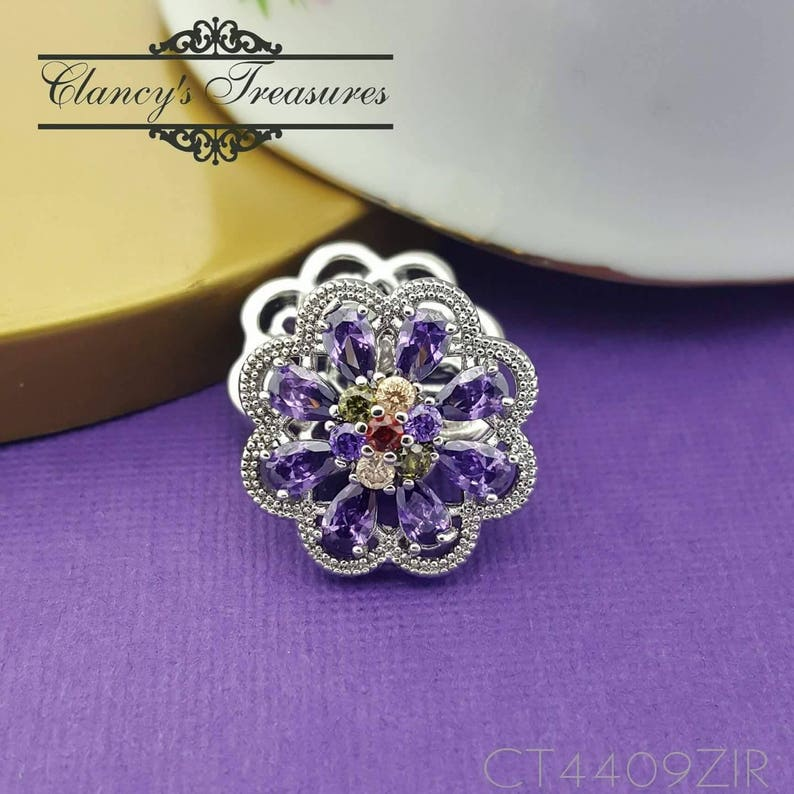 Pretty Charm Crystal Chunk Ginger Snap Button Fit For 18mm Noosa Jewelry