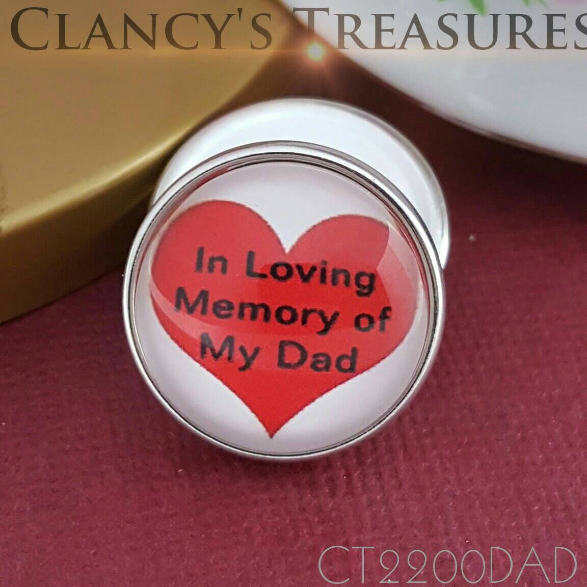 Snap Buttons In Loving Memory Of My Dad Interchangeable Jewelry