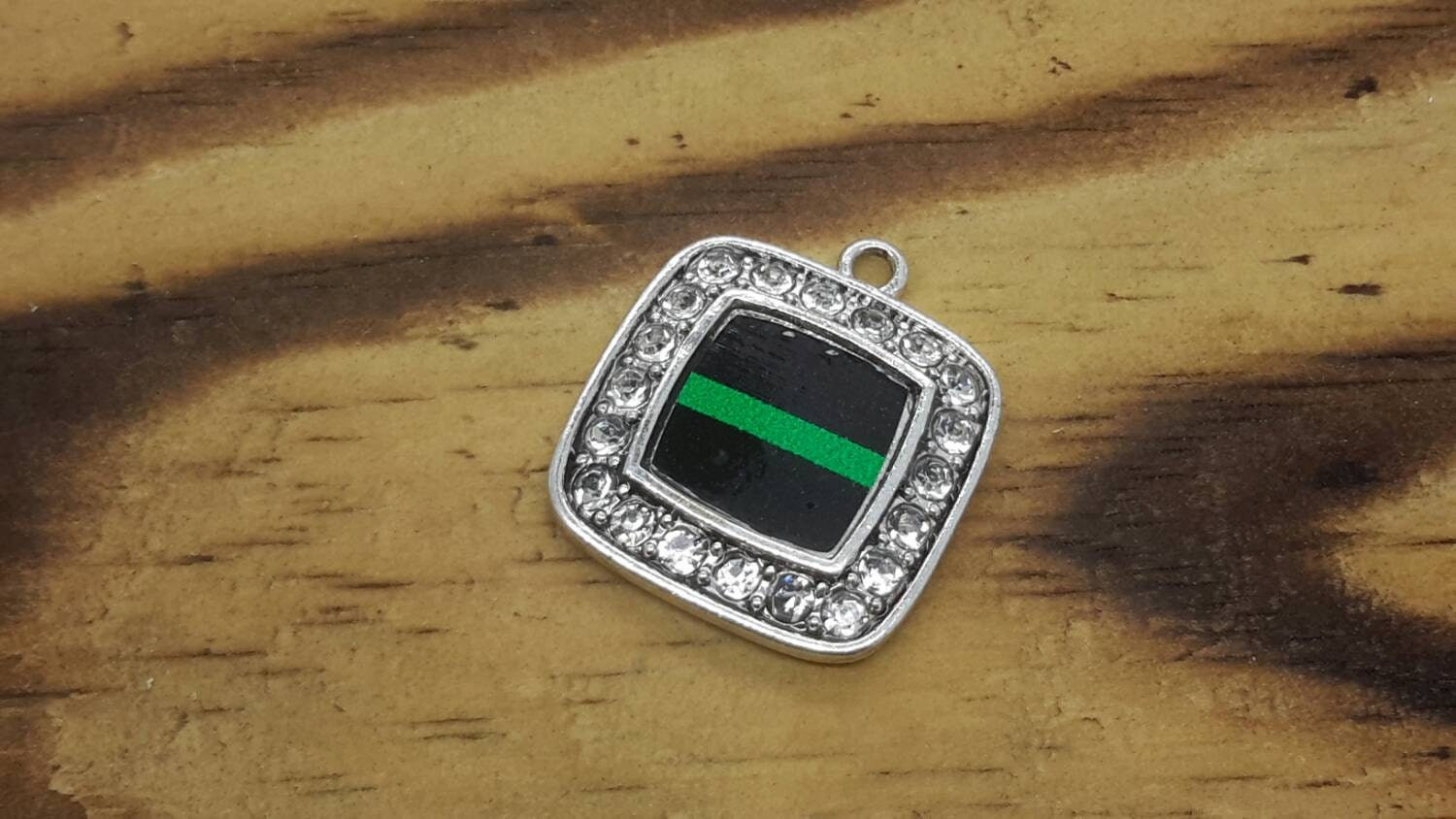 Thin green line charms florida law enforcement sheriffs police thin green line charms florida law enforcement sheriffs police charms charm supplies charm pendants jewelry findings close out sale aloadofball Images
