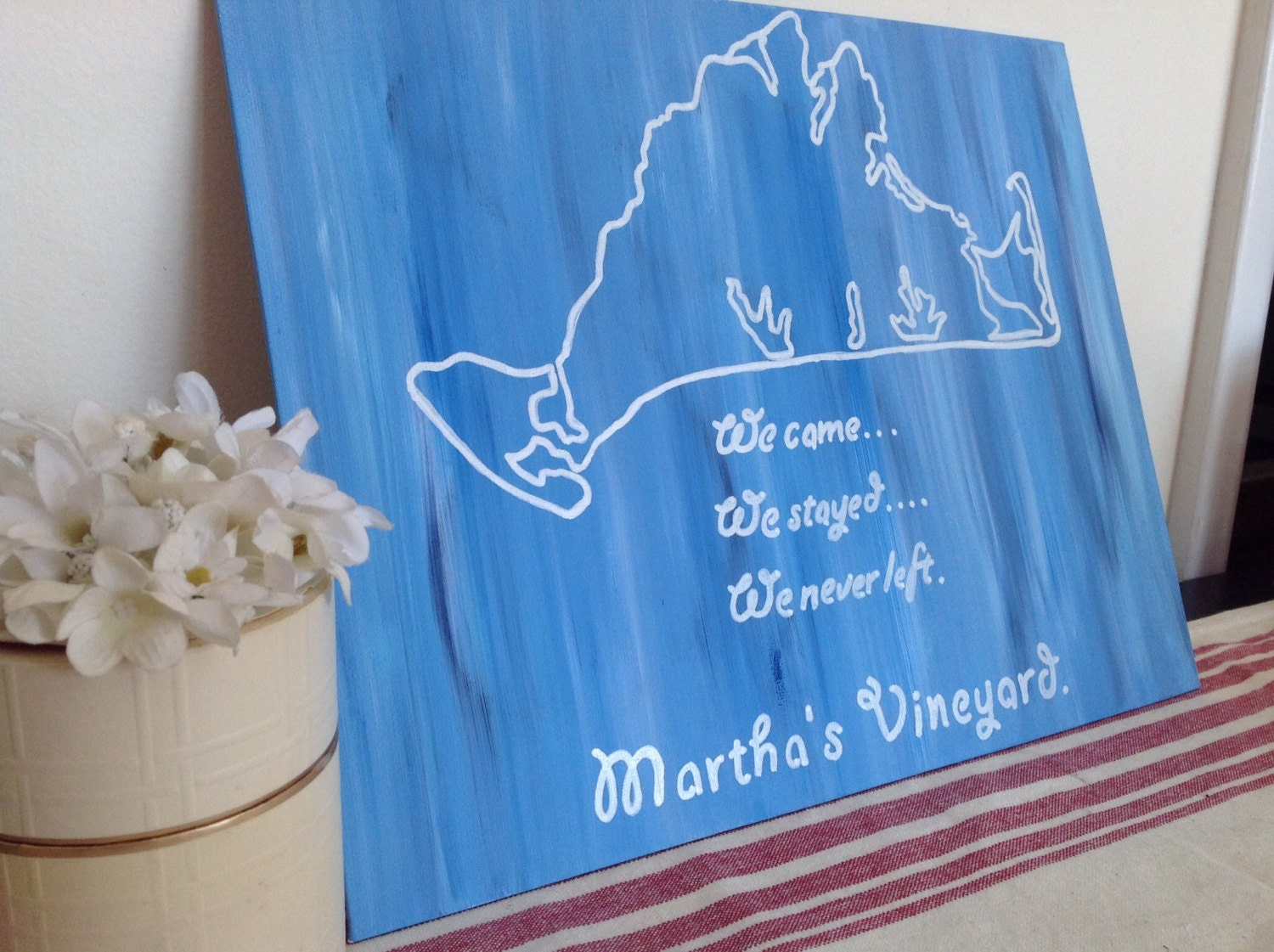 Canvas Quote: Martha\'s Vineyard home decor. 11x14 | Etsy