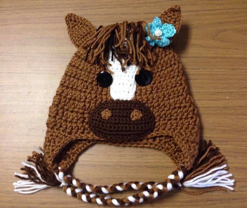 Crochet horse hat  0cf6f5a090e