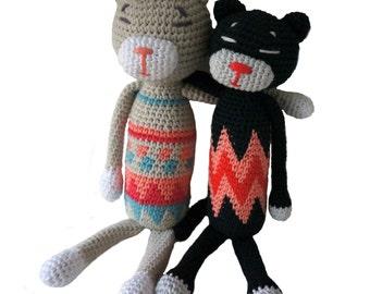 Amineko cat tapestry crochet
