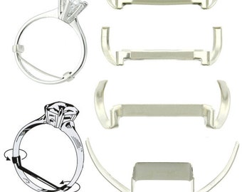 3 White Gold Filled Small Ring Guards Jewelry Sizer