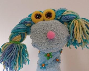 Smiling Happy Girl, Special Long Sock Puppet, Learning Communication Skills for Children. Gifts For Grandchildren