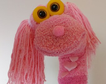 Soft Hair Princess Sock Puppet, Handmade Hand Puppets for Toddlers , Story Time Puppet, Theater Puppets Show