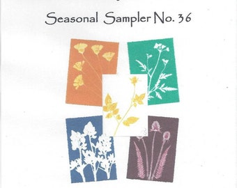 Seasonal Sampler No.36 Set of 5 Monoprint Notecards