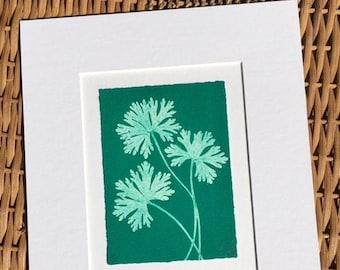 Original Monoprint Wild Geranium No.19