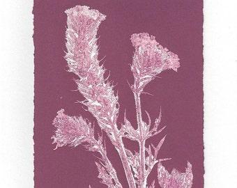 Monoprint Art Card Prairie Flower No.3