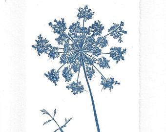Monoprint Art Card Queen Ann's Lace