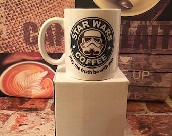 Starbucks/Starwars parodie tasse de café.