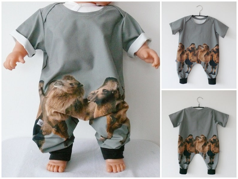 baby harem romper  camel  ca 18 month ca 6 month