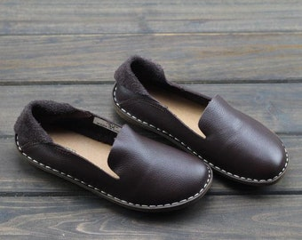 4 Colors,Handmade Shoes for Women,Oxford Shoes, Flat Shoes, Retro Leather Shoes, Casual Shoes