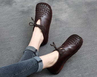 ad34f563c Handmade Women Leather Shoes Boots Flats Sandals by HerHis on Etsy