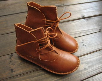 f5128348944a Handmade Women Leather Shoes Boots Flats Sandals by HerHis on Etsy