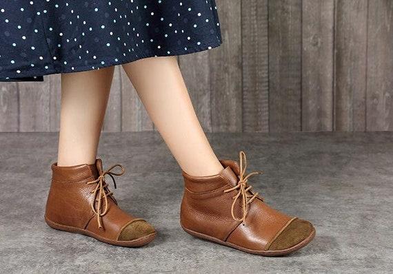 27858f4e91c27 Bottines à la main, Oxford femme chaussures, chaussures chaussures  chaussures plates, chaussures rétro en cuir, chaussures de sport, bottes  courtes, ...