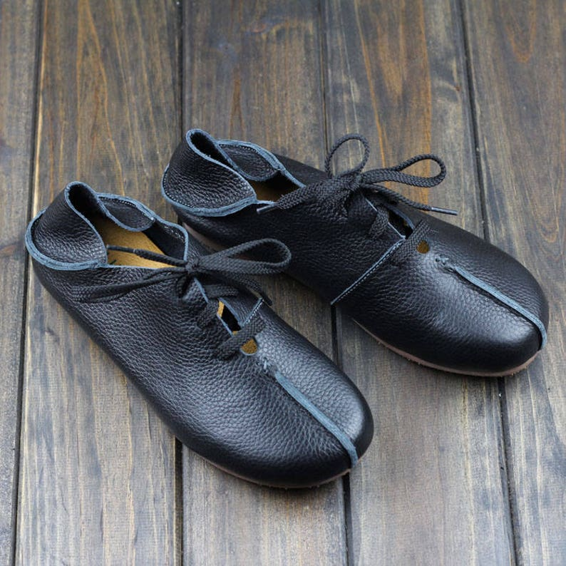 ef4cd6f15e2b 3 Colors Handmade Flat Shoes for Women Casual Shoes Soft