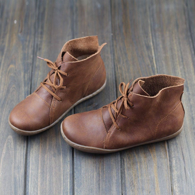 d22767f821a Handmade Shoes,Ankle Boots,Oxford Women Shoes, Flat Shoes, Retro Leather  Shoes, Casual Shoes, Short Boots,Booties,Black Booties,Brown Boots