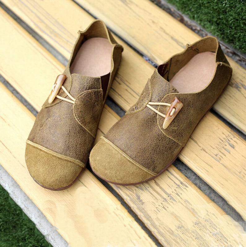 1a43d0c586c7c Large Size Handmade Shoes,Oxford Women Shoes, Flat Shoes, Retro Leather  Shoes, Casual Shoes
