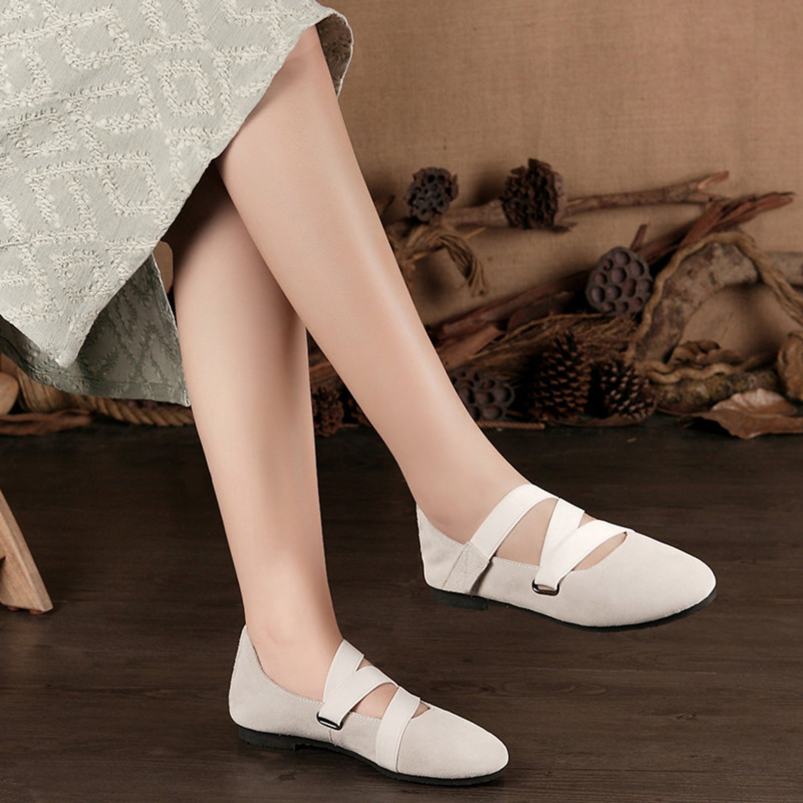 895a6daae080a Grey Handmade Ballet Shoes,oxford Women Shoes, Flat Leather Shoes ...