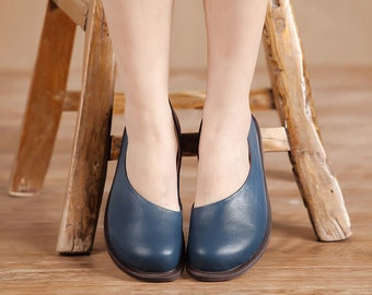 3 Colors! Handmade Women Shoes, Casual Shoes,Slip On, Flat Shoes for Women,Comfortable Soft Shoes,Personal Shoes